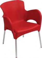 Thermo Plastic Titan Stacking Chair - Red
